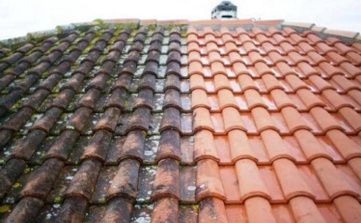 Démoussage de toit Fouesnant
